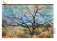 Carry-all Pouch featuring the painting Tumbleweeds by M Diane Bonaparte