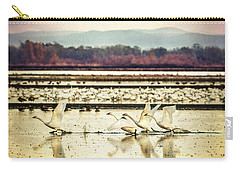 Tundra Swans Lift Off Carry-all Pouch