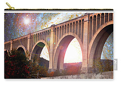 Tunkhannock Viaduct, Nicholson Bridge, Starry Night Fantasy Carry-all Pouch