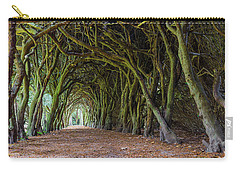 Carry-all Pouch featuring the photograph Tunnel Of Intertwined Yew Trees by Semmick Photo