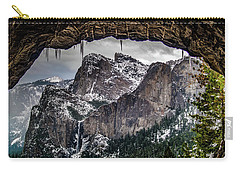 Carry-all Pouch featuring the photograph Tunnel View From The Tunnel by Bill Gallagher