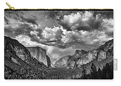 Tunnel View In Black And White Carry-all Pouch by Rick Berk
