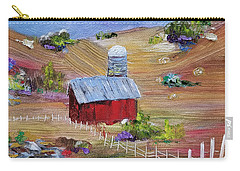 Carry-all Pouch featuring the painting Tunkhannock Farm by Judith Rhue
