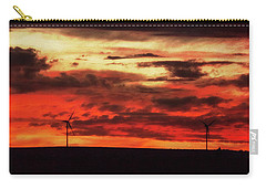Turbines At Sunset Carry-all Pouch