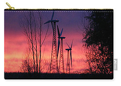 Turbines, Trees And Twilight Carry-all Pouch