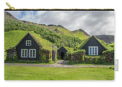 Turf Roof Houses And Shed, Skogar, Iceland Carry-all Pouch
