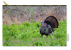 Carry-all Pouch featuring the photograph Turkey And Cabbage Square by Bill Wakeley
