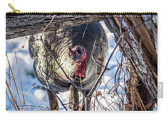 Carry-all Pouch featuring the photograph Turkey In The Brush by Paul Freidlund