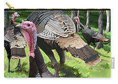 Turkey Tails Carry-all Pouch