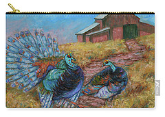 Carry-all Pouch featuring the painting Turkey Tom's Tango by Xueling Zou