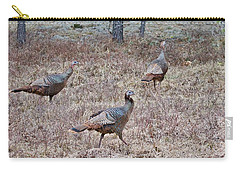Carry-all Pouch featuring the photograph Turkey Trio 1153 by Michael Peychich