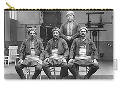 Carry-all Pouch featuring the painting Turkish Wrestlers Practicing For The Golden Belt 1904 by Artistic Panda