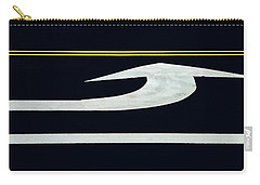 Turn Into Dont Pass Traffic Lines Carry-all Pouch by Gary Slawsky