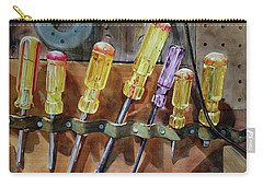 Carry-all Pouch featuring the painting Turn, Turn, Turn by Kris Parins