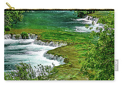 Turqouise Waterfalls Of Skradinski Buk At Krka National Park In Croatia Carry-all Pouch