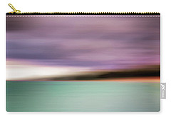 Carry-all Pouch featuring the photograph Turquoise Waters Blurred Abstract by Adam Romanowicz