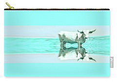 Turquoise And Steer Carry-all Pouch