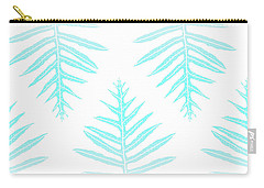 Turquoise Fern Array Carry-all Pouch