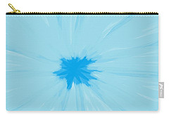 Turquoise Flower Abstract Carry-all Pouch by Linda Velasquez