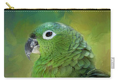 Turquoise-fronted Amazon Carry-all Pouch by Eva Lechner
