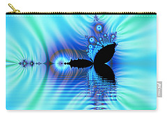 Turquoise Lake Fractal Carry-all Pouch