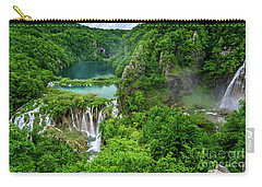 Turquoise Lakes And Waterfalls - A Dramatic View, Plitivice Lakes National Park Croatia Carry-all Pouch