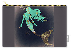 Turquoise Mermaid Carry-all Pouch by Mindy Sommers