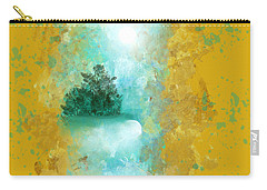 Turquoise River Carry-all Pouch by Jessica Wright