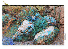 Turquoise Rocks Carry-all Pouch