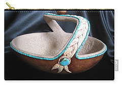 Turquoise Rope Carry-all Pouch by Barbara Prestridge