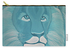 Turquoise Lion Carry-all Pouch