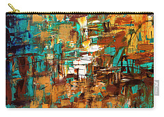 Carry-all Pouch featuring the painting Turquoise Scent by Carmen Guedez