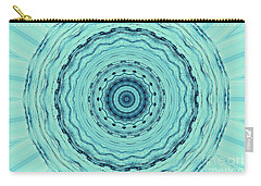 Turquoise Serenade Carry-all Pouch by Sheila Ping
