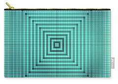 Turquoise Square Carry-all Pouch
