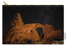 Carry-all Pouch featuring the photograph Turret Arch And The Milky Way - Utah by Gary Whitton