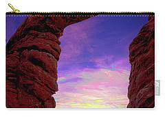 Carry-all Pouch featuring the photograph Turret Arch To Windows by Norman Hall