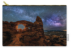 Turret Arch Under The Milky Way Carry-all Pouch