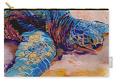 Carry-all Pouch featuring the painting Turtle At Poipu Beach 6 by Marionette Taboniar