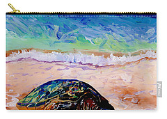 Carry-all Pouch featuring the painting Turtle At Poipu Beach 9 by Marionette Taboniar