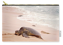 Carry-all Pouch featuring the photograph Turtle Beach by Heather Applegate