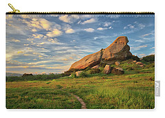 Turtle Rock At Sunset Carry-all Pouch by Endre Balogh