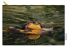 Turtle Taking A Swim Carry-all Pouch