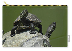 Turtles At A Temple In Narita, Japan Carry-all Pouch