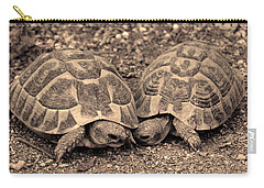 Carry-all Pouch featuring the photograph Turtles Pair by Gina Dsgn