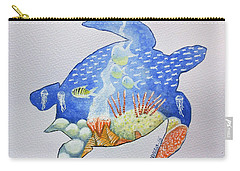 Turtle's World Carry-all Pouch by Edwin Alverio