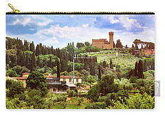 Tuscan Fields And Old Castle In Florence Carry-all Pouch
