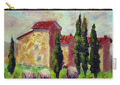 Tuscan House With Hay Carry-all Pouch