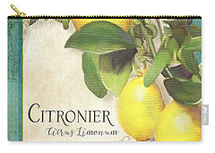 Tuscan Lemon Tree - Citronier Citrus Limonum Vintage Style Carry-all Pouch