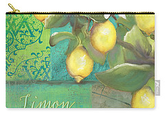 Tuscan Lemon Tree - Damask Pattern 2 Carry-all Pouch