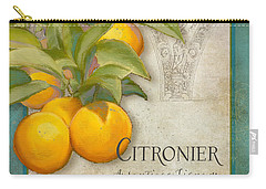 Tuscan Orange Tree - Citronier Aurantiaco Lignum Vintage Carry-all Pouch